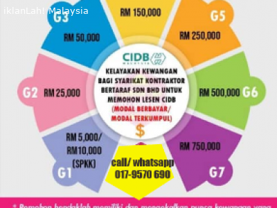 Iklan Percuma Iklanlah Malaysia Iklan Percuma Malaysia Free Classified Iklaneka Percuma Untuk Warga Malaysia Lain Lain Servis Promosi Pendaftaran Lesen Kontraktor Cidb G1 G7